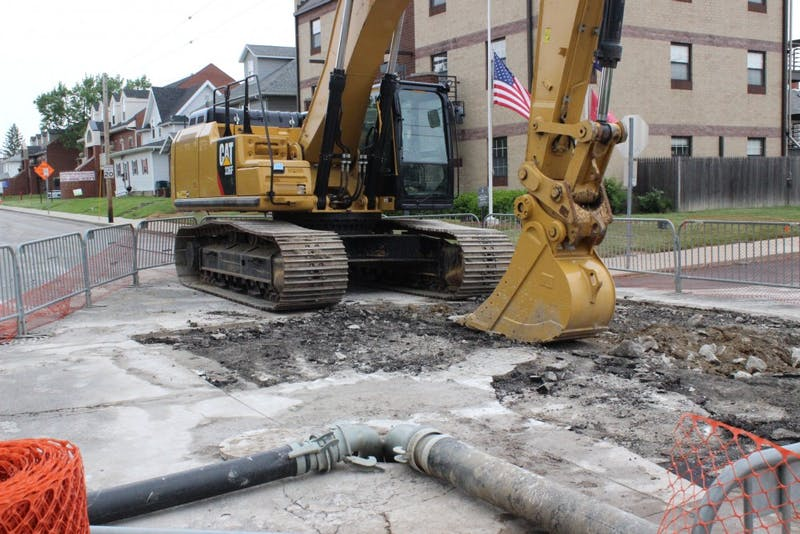 Sinkhole near Ball State's campus nearly repaired