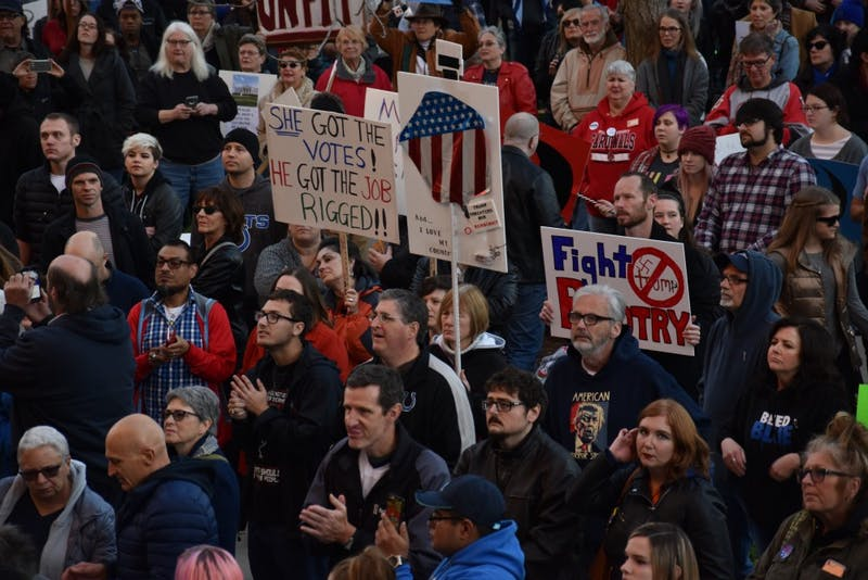 Students protest president-elect in Indianapolis