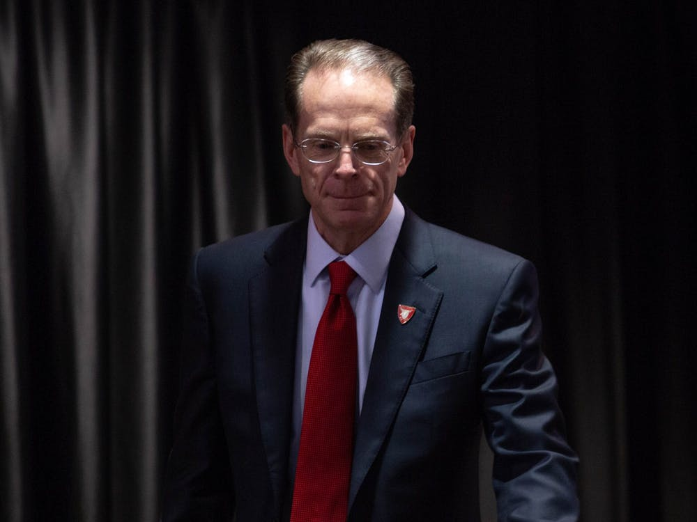 Ball State President Geoffrey Mearns, in a campus-wide email March 24, 2020, detailed new guidelines for university employees as part of Ball State's response to the COVID-19 pandemic. Specifically, he addressed concerns regarding paid leave for non-essential employees who are unable to work remotely. Scott Fleener, DN File