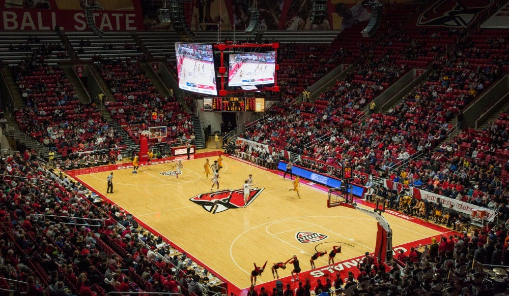 There was a large crowd Feb. 17 as number two ranked Ball State's men's basketball took on Toledo who is ranked first in the MAC West. Ball State won 99-71 in Worthen Arena, which has a capacity of 11,500. Eric Pritchett, DN