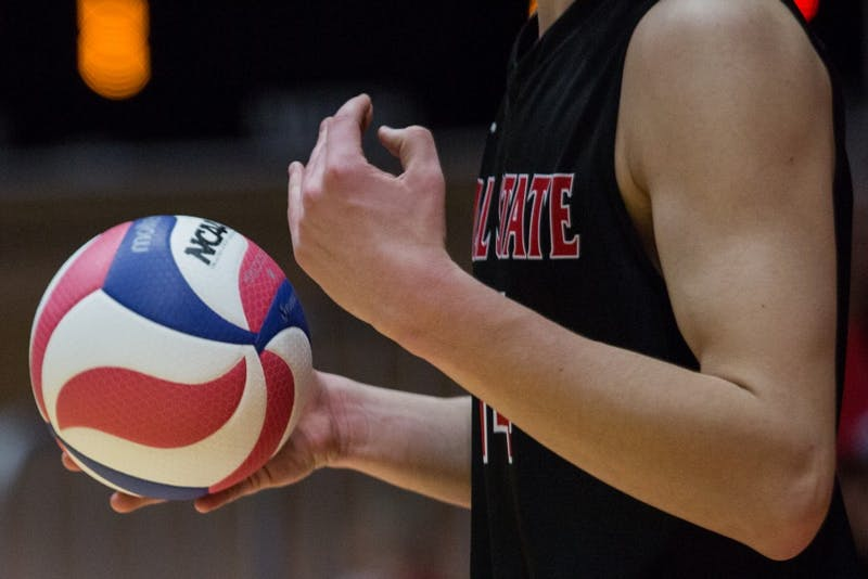 Ball State beat Ohio State on senior night 3-2 in John E. Worthen Arena April 7.