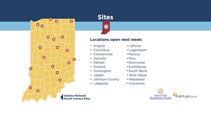 Indiana to open COVID-19 testing sites statewide
