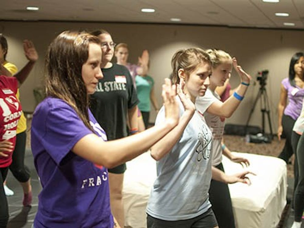 Students participate in the Elemental self defense program last fall at Ball State. The program, which started at Ball State, will be spreading to other universities. DN FILE PHOTO BOBBY ELLIS