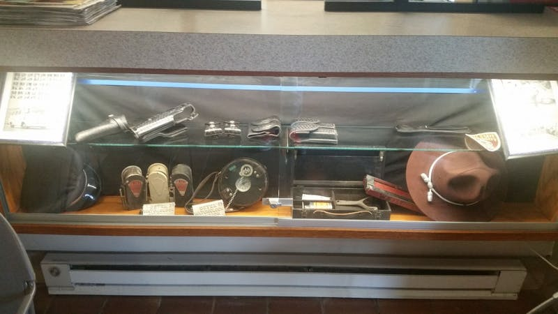 The University Police Department recently installed a new display case in the entrance of the building, which showcases a variety of items donated by retired police officers. The display case was implemented by UPD Capt. Rhonda Clark. Phil Belpasso, DN