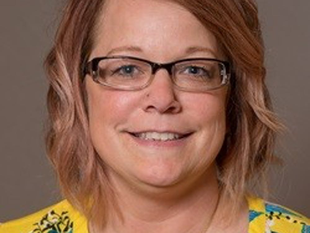 Jennifer Eber, a 12-year employee at Ball State, is the 2019 A. Jane Morton award winner. Eber works with students, staff and professors daily to ensure their technology functions properly, and she helps with advertising for the team. Ball State, Photo Courtesy