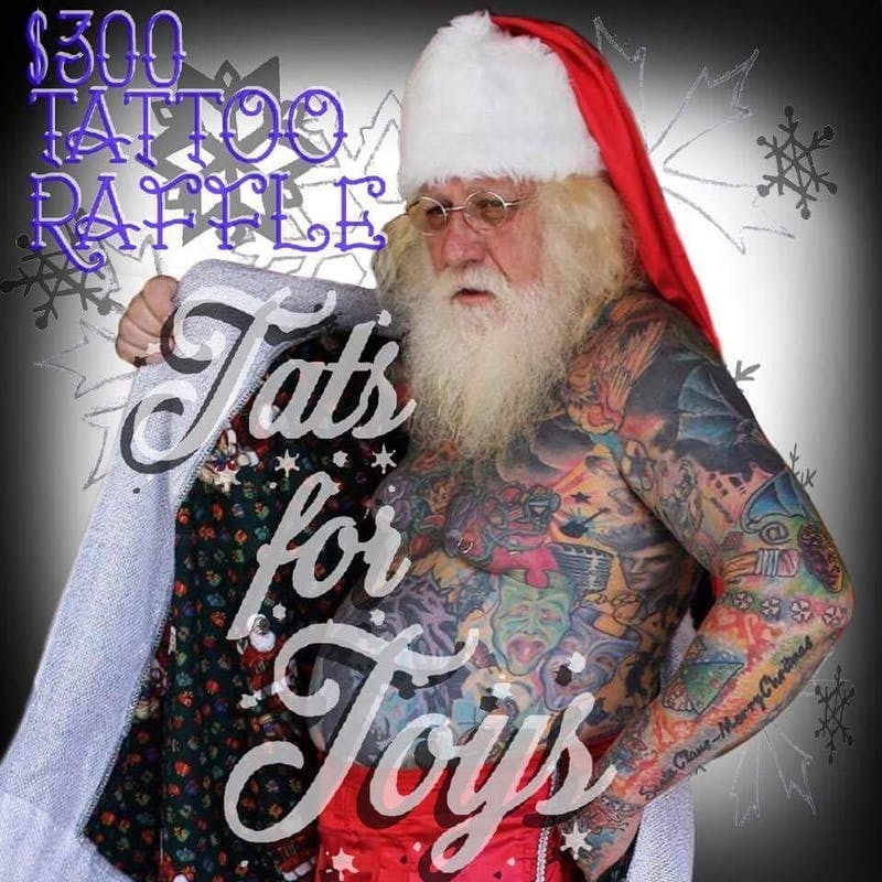 Raffle offers tattoo credit in return for toy donation