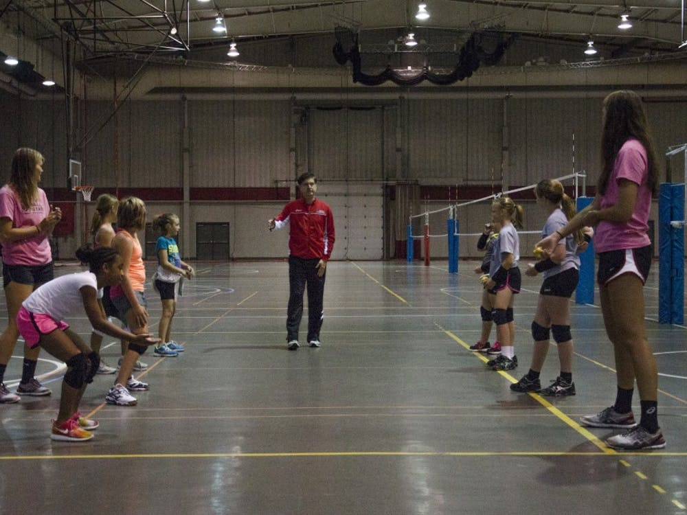 The women's volleyball team hosted the Lil Cards Volleyball Camp on July 10 in the Field and Sports Building. Seven girls participated in the camp that worked on their passing,  serving, attacking and teamwork skills.