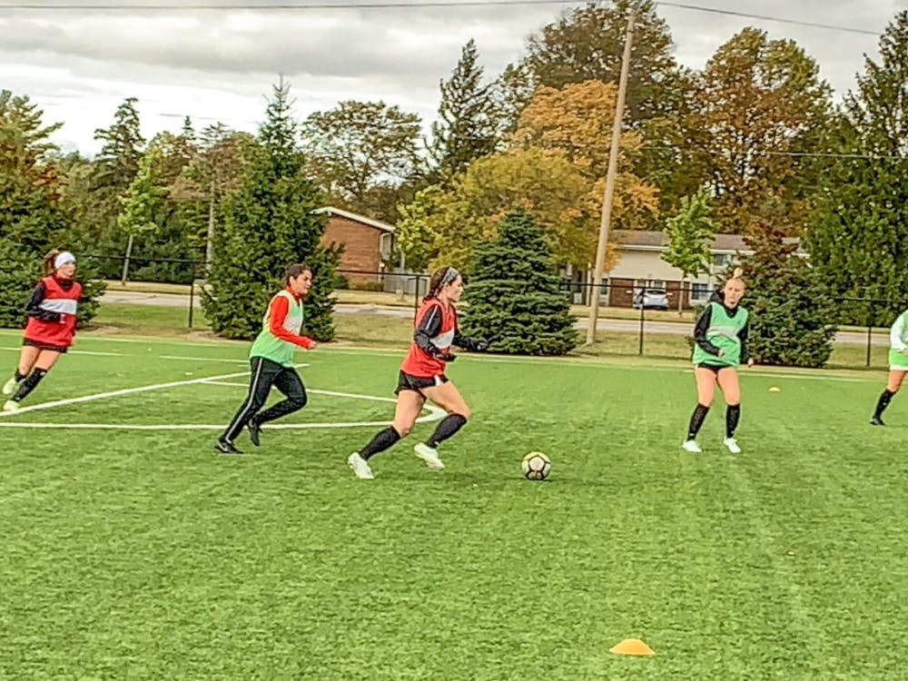 Ball State Soccer prepares to take on Kent State at practice in Muncie on Oct. 21. The team hopes to keep pace with Bowling Green atop the MAC standings.