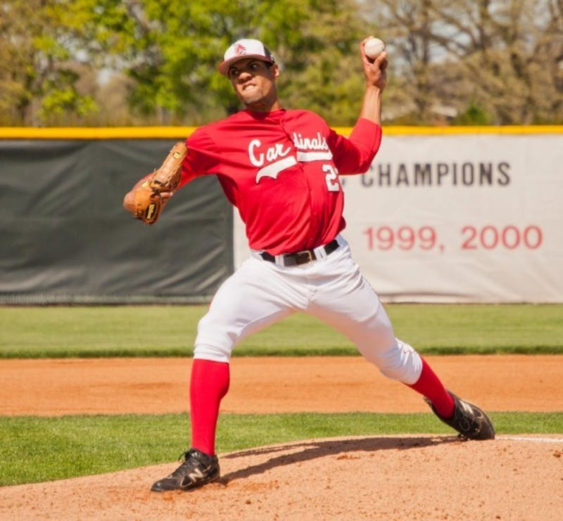 BASEBALL: Missing pitching ace, Ball State splits 2 games