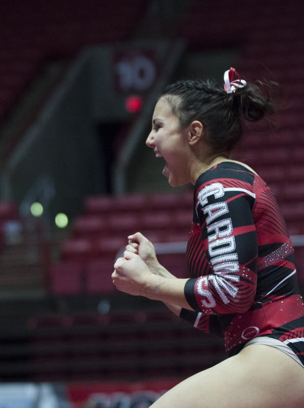 RECAP: Ball State gymnastics upsets No. 25 North Carolina State