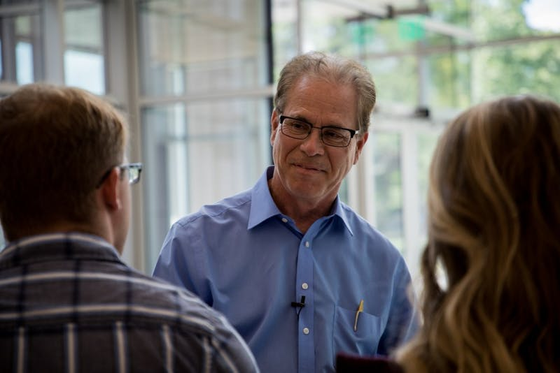 Sen. Mike Braun visits Ball State, discusses higher education costs