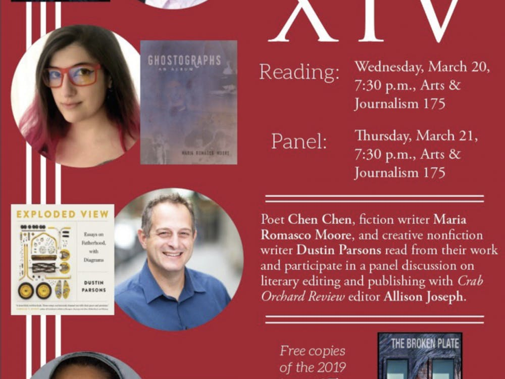 In Print Festival of First Book features recently published authors during a two-night event at 7:30 p.m. March 20 and 21, in AJ 175. The three authors will read a portion from their works March 20, and then the three writers along with editor Allison Joseph will hold a panel discussion about the editing and publishing process on March 21. Ball State Department of English, Twitter Courtesy.
