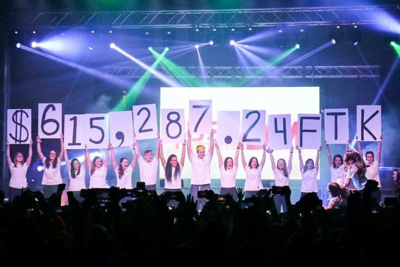 The 2019 Ball State Dance Marathon raised $615,287.24 for Riley Children's Hospital by 2:06 a.m. Feb. 17, 2019 at the Field Sports building. This annual  fundraiser lasted 13.1 hours in starting at 1 p.m. Saturday. Eric Pritchett, DN