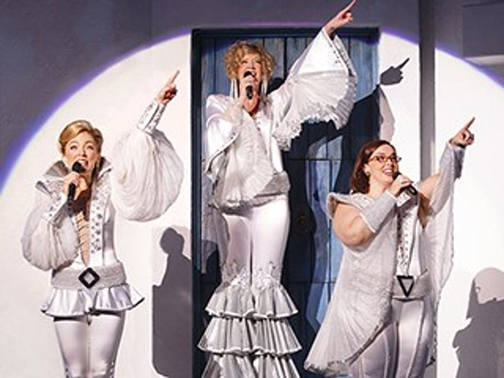 Mamma Mia's Farewell Tour is coming to Emens Auditorium on May 3 at 7:30 p.m. The Broadway classic uses music based on the songs of ABBA to tell the story of Sophie as she tries to figure out who her father is before she gets married. Ball State University // Photo Courtesy