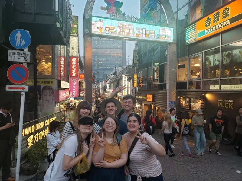 Elena and her fellow study abroad students visited Harajuku, Tokyo while on her study abroad. Harajuku is also known as the fashion district. Elena Stidham, photo provided.