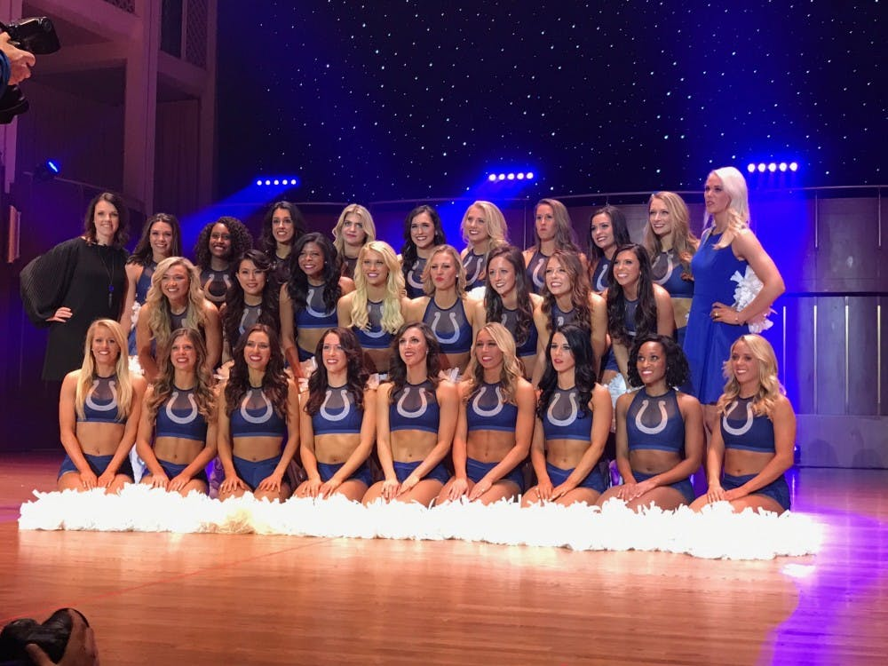 <p>Five Ball State students and alumnae will spend the 2017-18 NFL season on the field rather than in the stands.&nbsp;The women were recently selected as cheerleaders for the Indianapolis Colts. Colts // Photo Courtesy</p>
