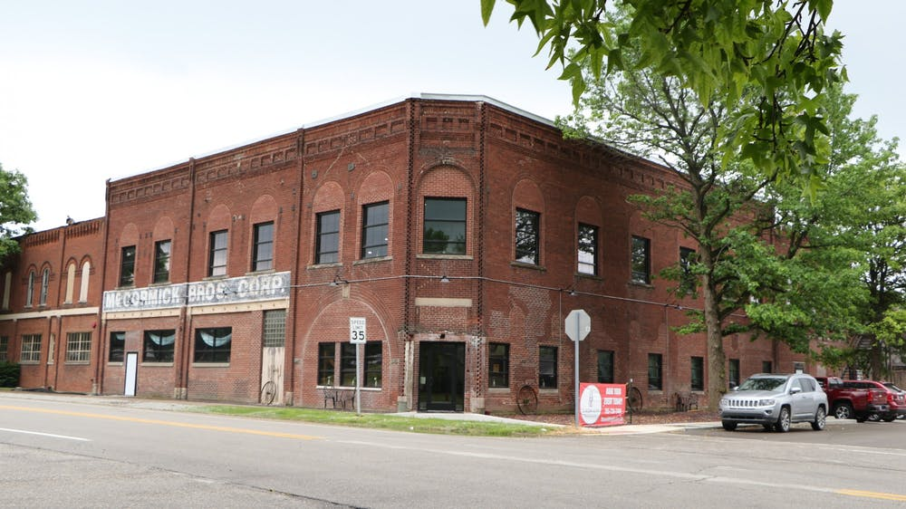 <p>The Wedding Factory opens its doors for business in the historic McCormick building in Albany, Indiana. Shaffer and his family spent 10 months updating their portion of the building with an elevator and a new heating and air conditioning system. <strong>Clayton McMahan, DN</strong></p>