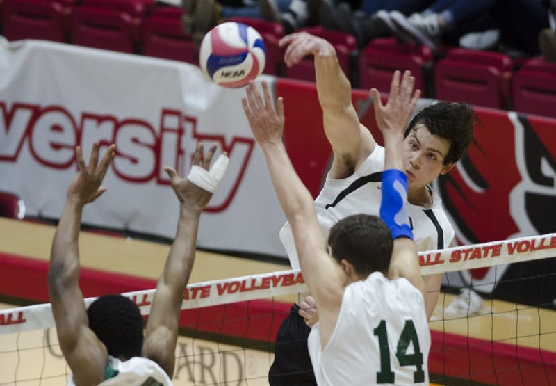 RECAP: Ball State men's volleyball vs. No. 12 George Mason