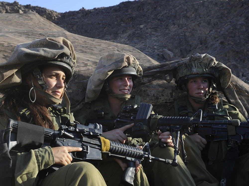Female Intelligence soldiers near the southern Israeli border. Flickr, Photo Courtesy