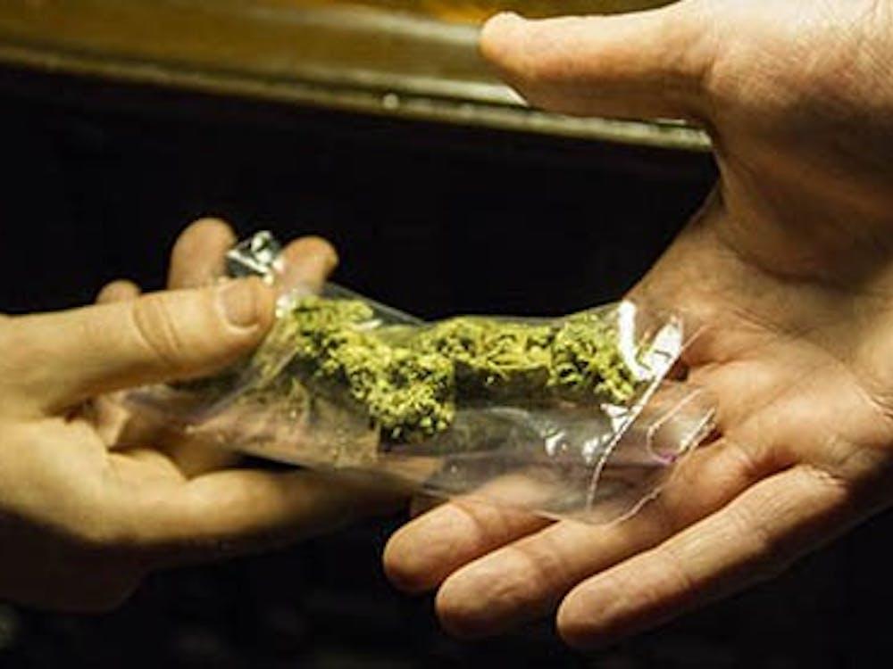One student sells marijuana to a fellow student inside their home. Over an ounce of marijuana is a class D misdemeanor. DN PHOTO ILLUSTRATION EMMA FLYNN