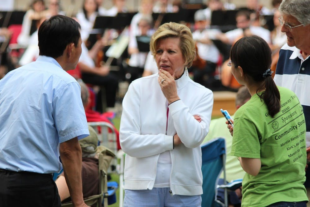 Ball State President Jo Ann Gora was among the crowd at the Festival on the Green on June 08. Gora, one of the university