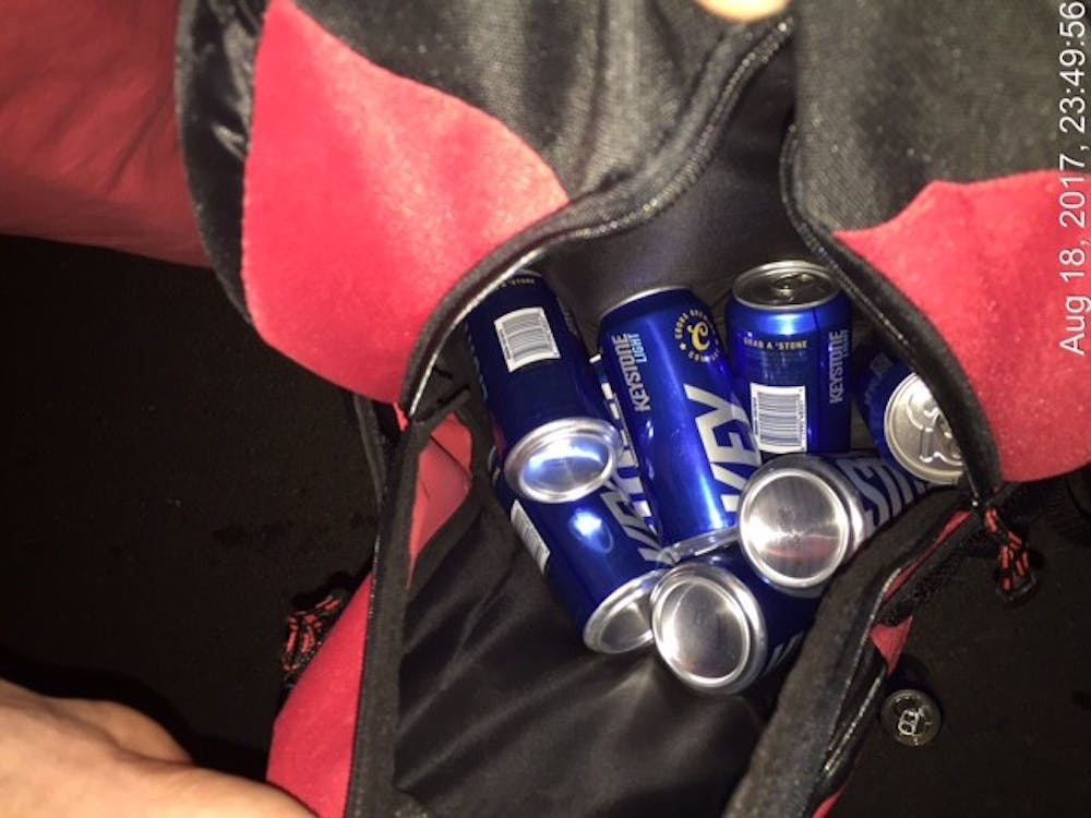 Excise police confiscated seven cans of beer from an underage student during Welcome Week. This was one of the many incidences excise and Ball State police dealt with over the weekend. Excise Police // Photo Provided