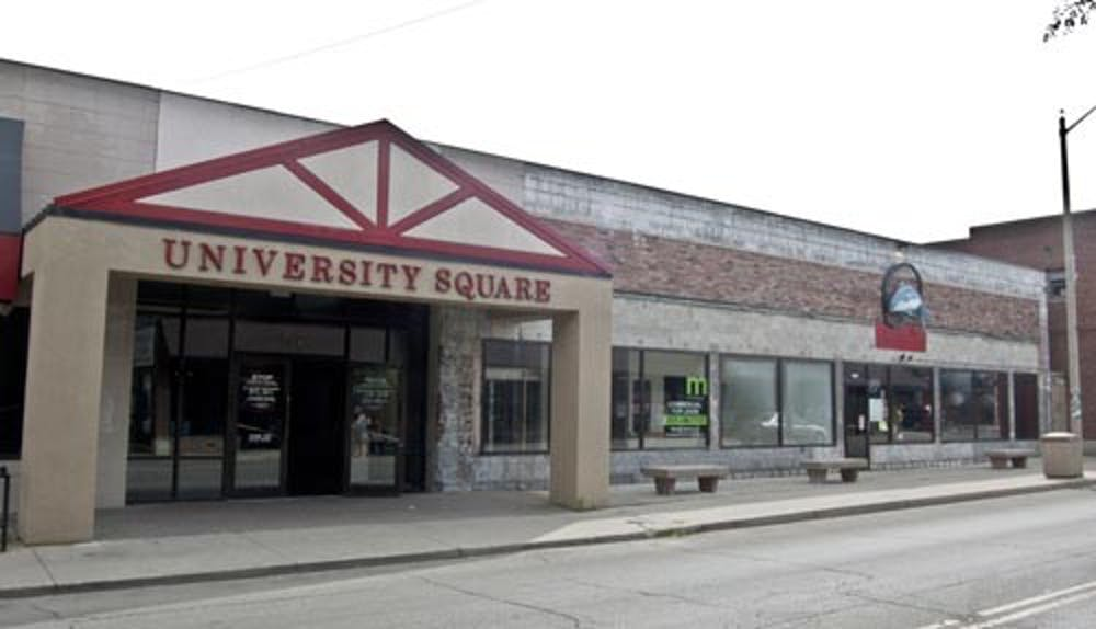 The University Square building in the Village stands empty except a local restaurant, Oh! Fusion Japanese in August 2011. University Square has facade renovations planned for the future. DN FILE PHOTO JONATHAN MIKSANEK