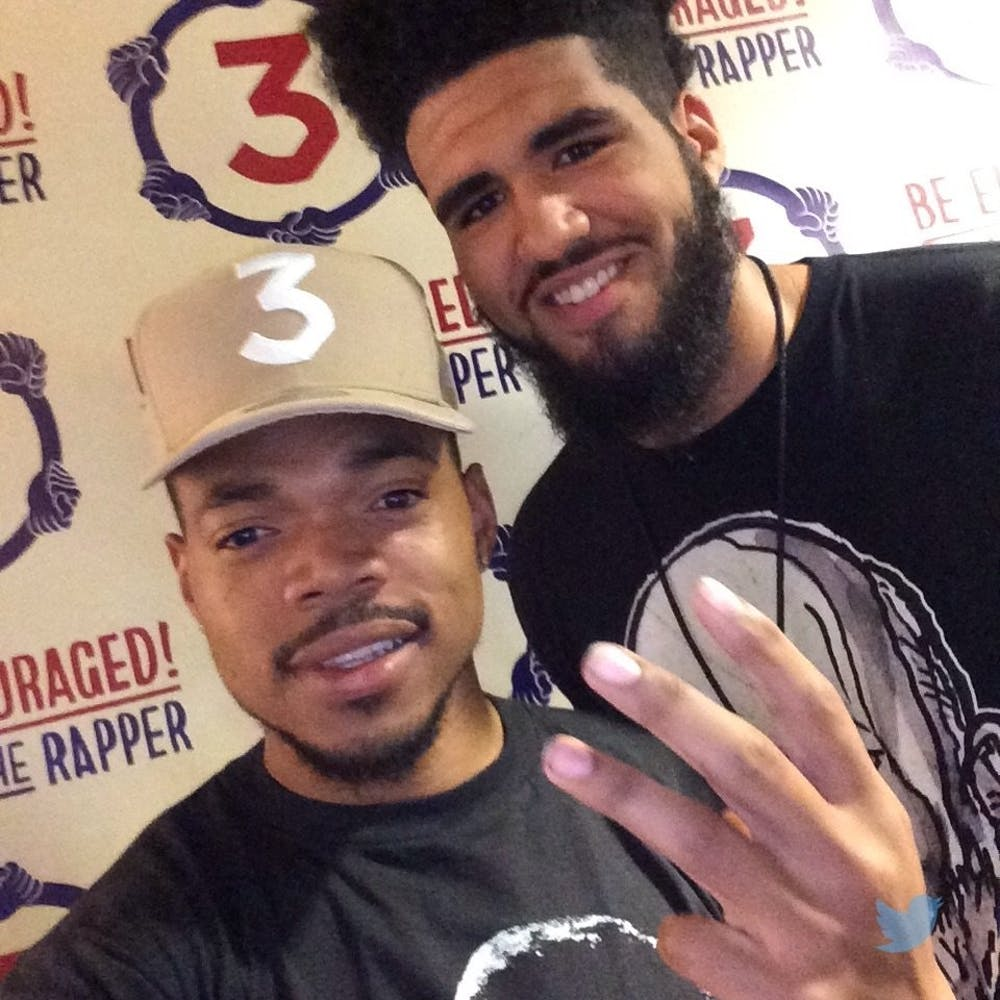 Ball State basketball player meets Chance the Rapper