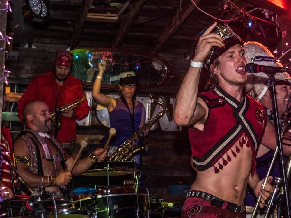 March Fourth performed at Be Here now on Sep. 9 with a band full of 12 members, stilt walkers, acrobats and dancers. March Fourth isn't any ordinarry band, they have a New Orelans funk genre along with many other style of genres. Stephanie Amador // DN