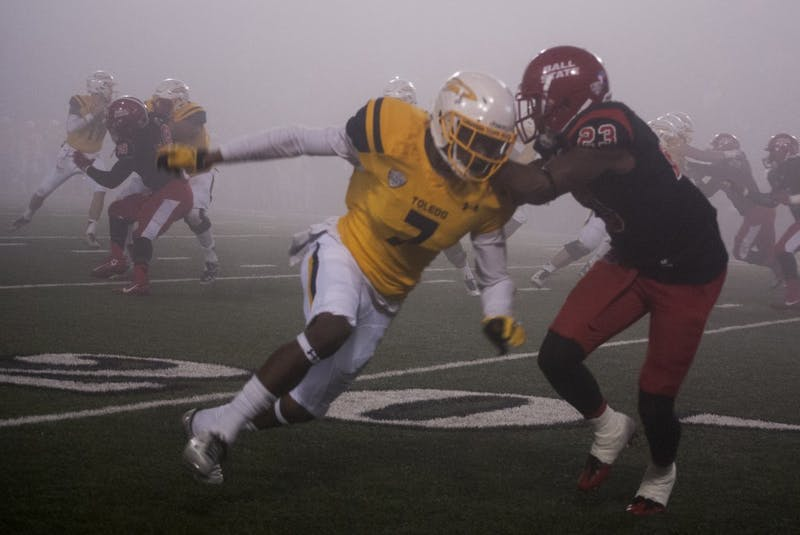 Dense fog limits visibility in Ball State football loss to Toledo