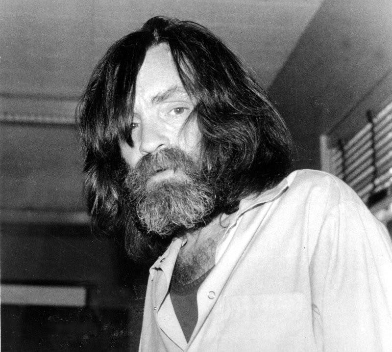 In this June 10, 1981 file photo, convicted murderer Charles Manson is photographed during an interview with television talk show host Tom Snyder in a medical facility in Vacaville, Calif. Authorities say Manson, cult leader and mastermind behind 1969 deaths of actress Sharon Tate and several others, died on Sunday, Nov. 19, 2017. He was 83. AP Photo