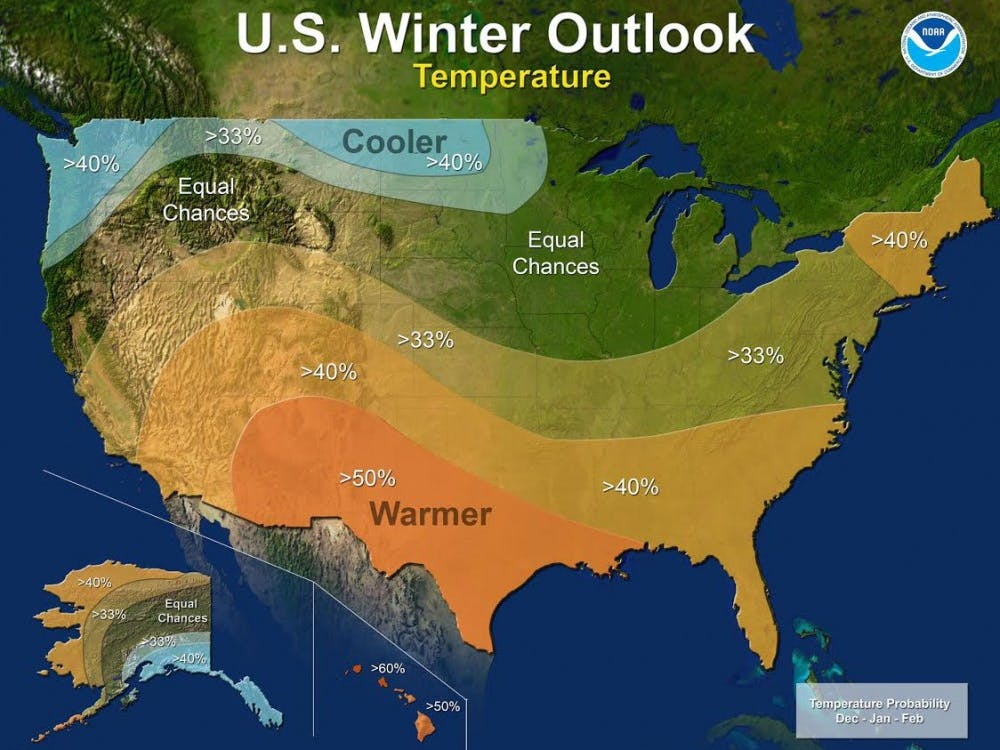 La Niña could bring slightly cooler temperatures for Indiana. La Niña is defined as cooler than normal sea-surface temperatures in the central and eastern equatorial Pacific. NOAA, Photo Courtesy