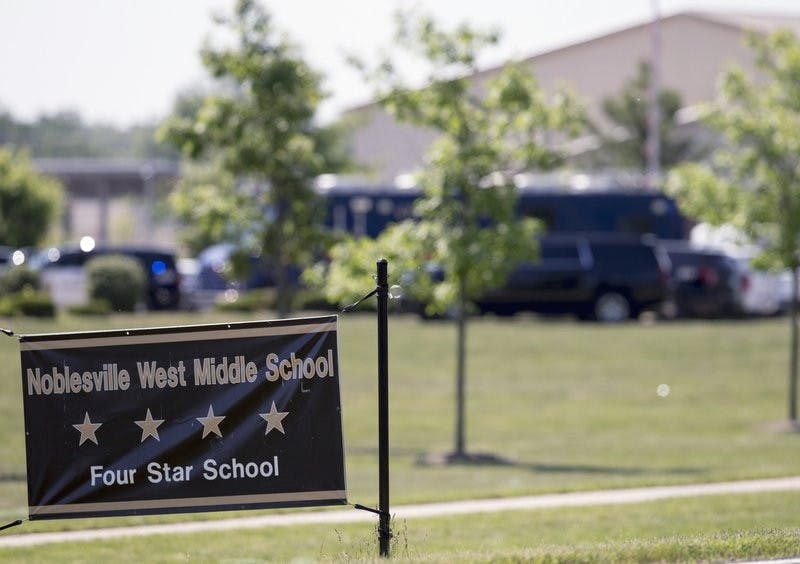 NOBLESVILLE, Ind. (AP) — A 13-year-old boy has shown no remorse for shooting his teacher and a classmate at his Indianapolis-area school, and he will remain the responsibility of the state juvenile detention system until he is 18, an Indiana judge ruled Wednesday.