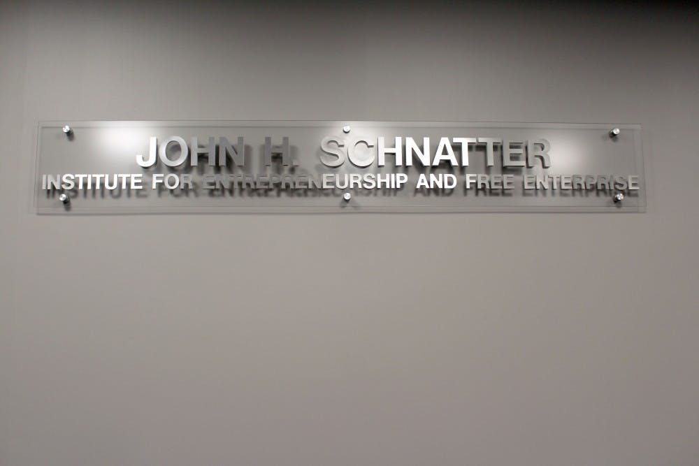 After previously releasing a statement saying John Schnatter's name would remain on the John H. Schnatter Institute for Entrepreneurship and Free Enterprise, the Board of Trustees held a special session to discuss the issue further. After an 8-1 vote, the Board decided to remove Schnatter's name and return all previously donated funds. Brynn Mechem, DN