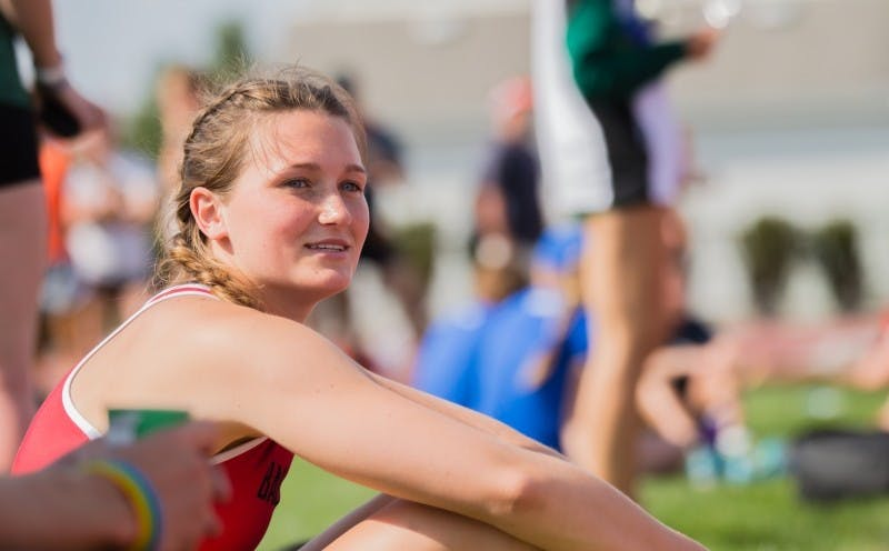 Sophomore Regan Lewis waits to high jump during the Ball State Challenge on April 15 at Briner Sports Complex. Lewis finished high jump with a jump of 1.76 meters. Terence K. Lightning Jr., DN File