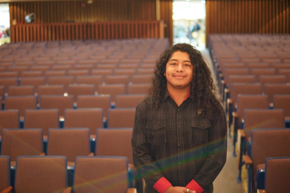 Muncie Community Schools student senior Omar Rodriquez stands in the auditorium after the MLK Citizenship Award event Saturday, Jan. 19, 2019, at Muncie Central High School. Rodriguez has won the award for 10 consecutive years. Scott Fleener, DN