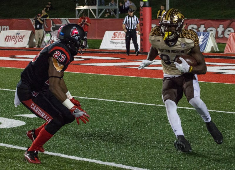 Corey Davis, No. 17 Western Michigan hand Ball State 52-20 loss