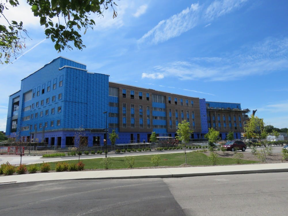 <p>Intended to be finished in the summer of 2020, a new residence hall joins the group of northside dorms. This new residence hall is located directly next to Johnson A and across from the new dining facility.&nbsp;</p>