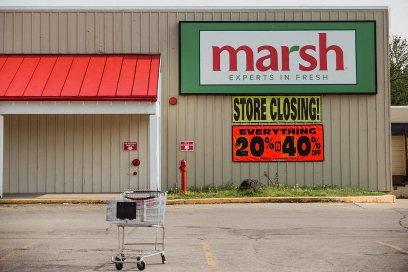 Marsh stores in Indiana and Western Ohio announced that all 44 of its remaining stores could be closed down in the next 60 days or earlier if the company is unsuccessful in its efforts to find a buyer or business partner. Reagan Allen // DN