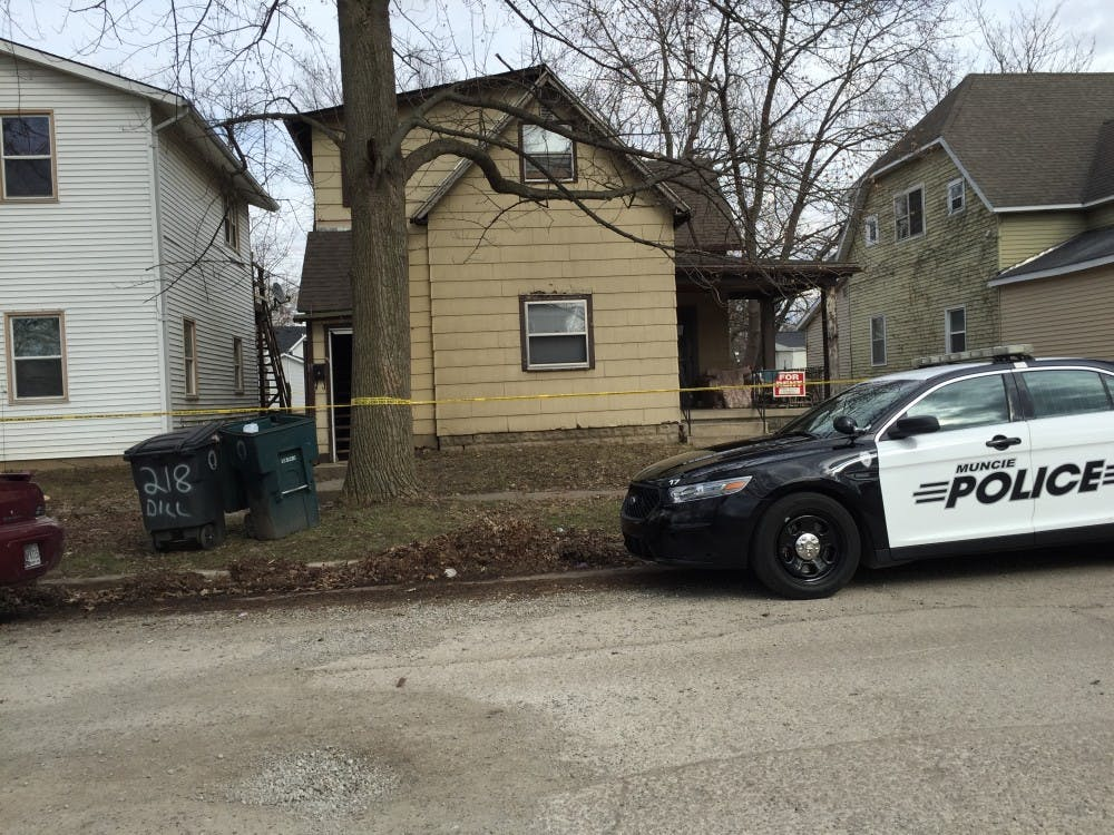 Muncie Police roped off 216 N. Dill, along with 214 N. Dill and 218 N. Dill until they determine where a stabbing occurredMonday afternoon. DN PHOTO RACHEL PODNER