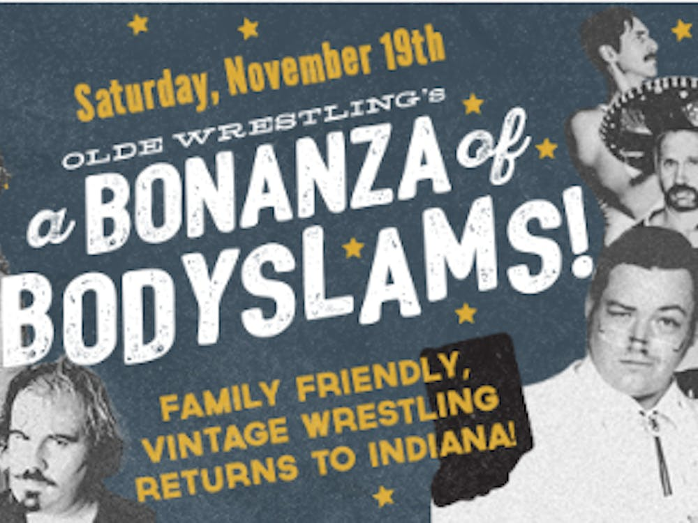 """Cornerstone Center for the Arts will host Olde Wrestling's """"Bonanza of Bodyslams"""" Nov. 19. The show aims to take audience members back to the time of wrestling shows in the 1920s.Olde Wrestling // Photo Courtesy"""