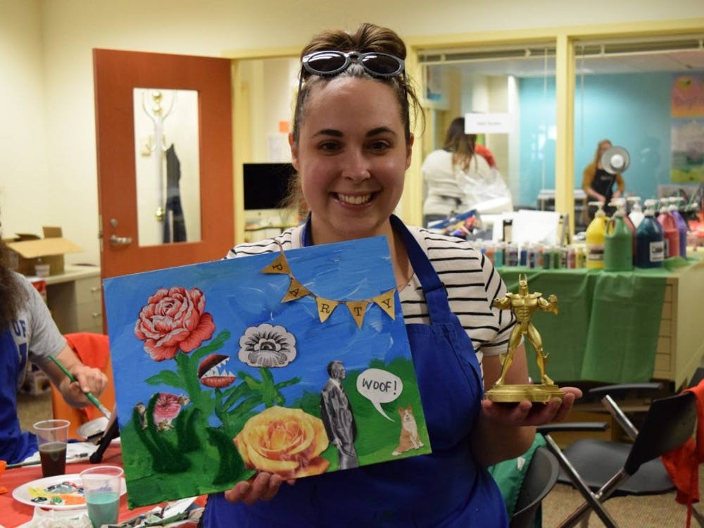 Desiree Soptelean, a Ball State alumna, frequently attendsBad Art Night events.Bad Art Night, which will return to Muncie'sMaring-Hunt Library on Dec. 6, allows community members aged 18 and over to enjoy a stress-free night of art.Rebecca Parker // Photo Provided
