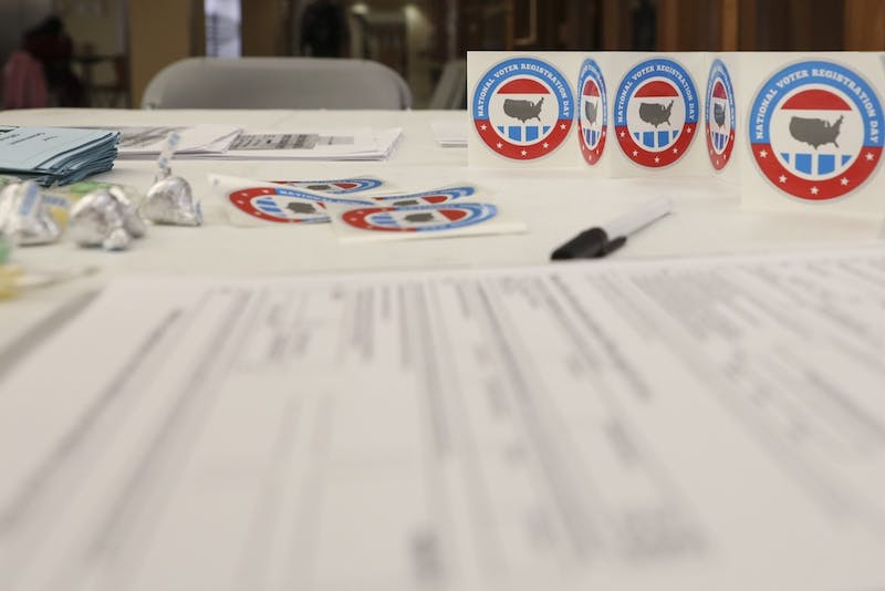 Ball State organizations hold voter registration in honor of National Voter Registration Day