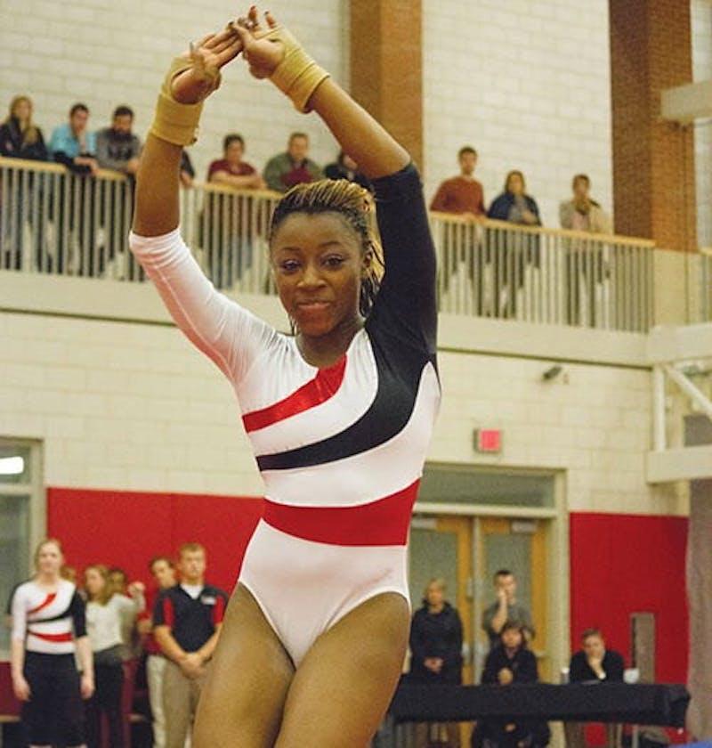 Despite wins, gymnastics still hungry to get better scores