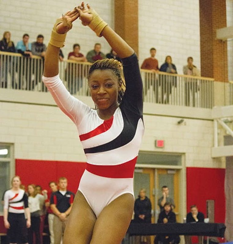 Despite wins, gymnastics still hungry to get better scores