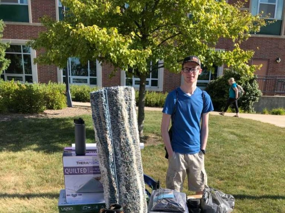 Joshua Smith on move in day August 11, 2019. Photo provided.