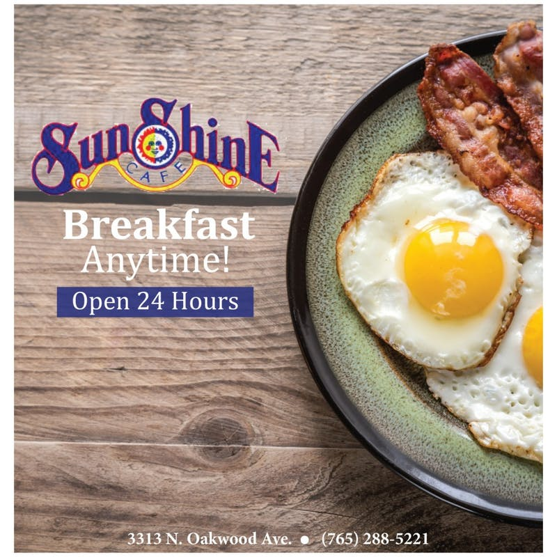 Sunshine Cafe is there for you 24-7