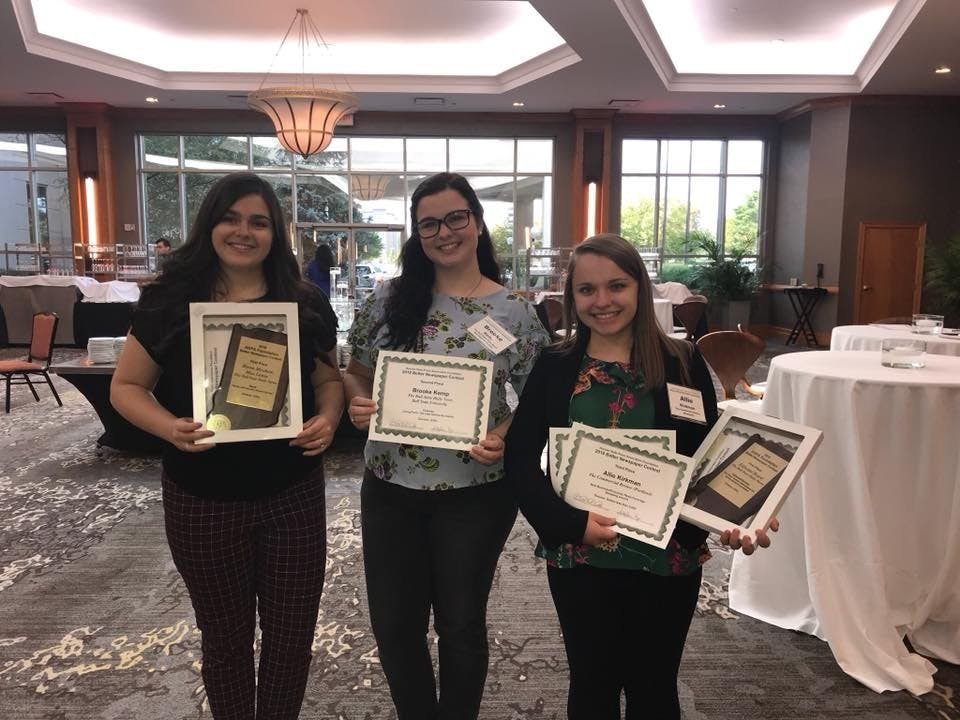 The Daily News staff was awarded four awards at the Indiana Collegiate Press Association-Hoosier State Press Association College Division Contest Sept. 15. Lisa Renze-Rhodes, Photo Provided