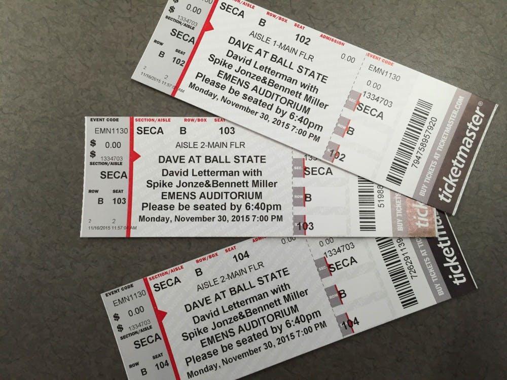 <p>David Letterman will speak at Ball State with Spike Jonze and Bennett Miller on Nov. 30, 2015.&nbsp;DN PHOTO RACHEL PODNAR</p>