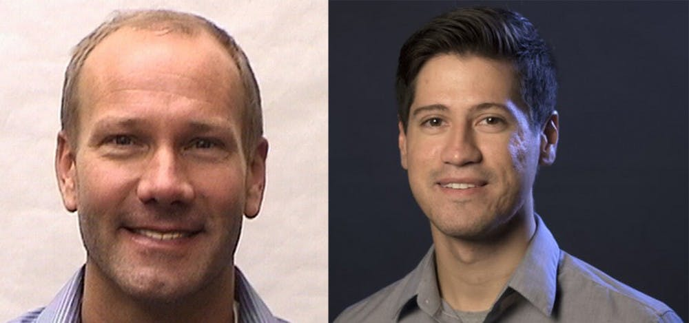Dan Sweson, graphics editor for the Advocate in in New Orleans, Louisiana, and Aric Chokey, writer at the Fort Lauderdale Sun Sentinel, were part of teams that won Pulitzer Prizes for their work. Sweson and Chokey are journalism graduates from Ball State. Marc Ransford, Photo Provided